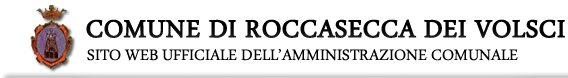 Comune di Roccasecca dei Volsci - sito web ufficiale dell'Amministrazione comunale